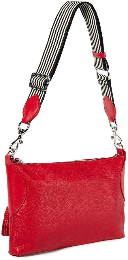 Thumbnail for your product : Rebecca Minkoff Tasseled Textured-leather Shoulder Bag