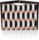Nathalie Trad Copper Geometric Kepler Box Clutch