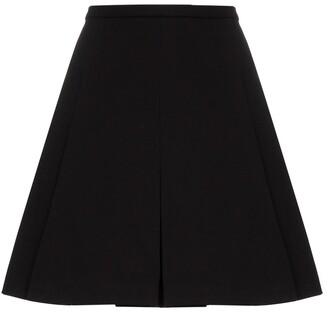 Plan C Pleated Cotton Mini Skirt