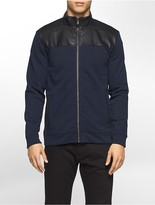 Calvin Klein Mixed Media Jacquard Fleece Sweatshirt