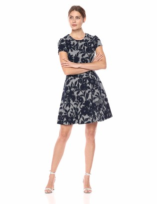 Brinker & Eliza Women's Floral Print Knit Fit and Flare Dress