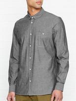 WHISTLES Chambray Round Collar Shirt