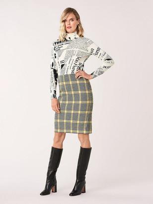 Diane von Furstenberg Siiella Two Knit Jacquard Skirt