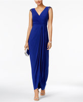Adrianna Papell Embellished Wrap Gown