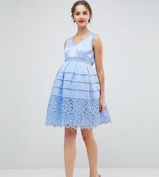 Chi Chi London Maternity Cutwork Lace Dress