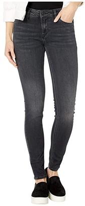 Hudson Krista Mid-Rise Super Skinny in Rewrite (Rewrite) Women's Jeans