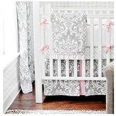 New Arrivals Inc. Stella Gray 3 Piece Crib Bedding Set