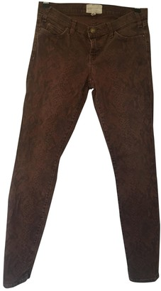 Current/Elliott Current Elliott Burgundy Cotton Jeans for Women