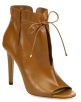 Jimmy Choo Memphis 100 Cinched Leather Peep-Toe Booties