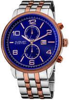 August Steiner Men's Swiss Metal Bracelet Watch