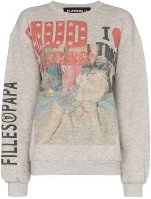Filles a papa Wrestling-Print Sweatshirt