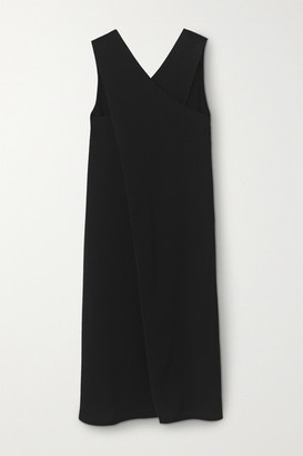 By Malene Birger Aluta Draped Wrap-effect Crepe Midi Dress - Black