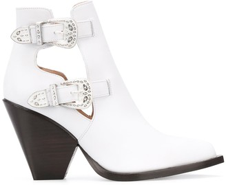 Pinko Buckled Cowboy Ankle Boots