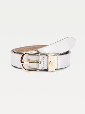 Tommy Hilfiger Slim Leather Engraved Monogram Belt