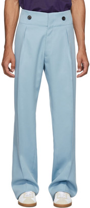 Lanvin Blue Wool High-Waisted Trousers