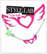 Fashion Angels Pink & Silvertone Heart & Wings Charm Necklace