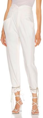 Isabel Marant Etoile Womens Paro Abstract Skinny Jeans Black White Size FR 34