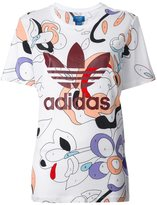 adidas printed trefoil logo T-shirt - women - Cotton/Modal - XS
