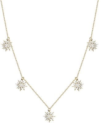 Djula Yellow Gold and Diamond Sun Necklace