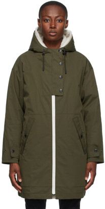 Yves Salomon   Army Yves Salomon - Army Green Down Shearling Bachette Long Parka