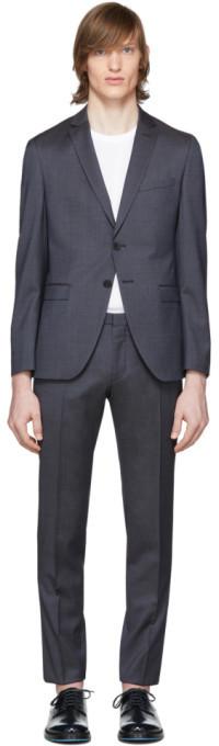 HUGO BOSS Blue Wool Reymond and Wenton Suit