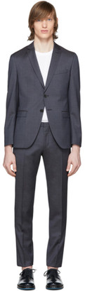 BOSS Blue Wool Reymond and Wenton Suit