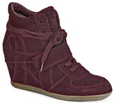 Ash Bowie - Wine Suede Wedge Sneakers