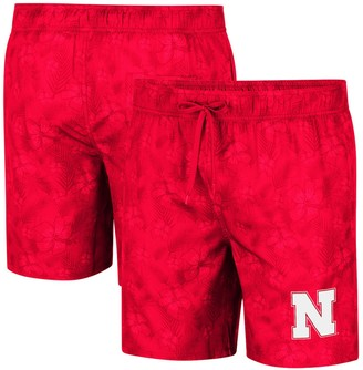Colosseum Men's Scarlet Nebraska Cornhuskers Kavai Swim Trunks