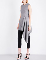 Alexander McQueen Draped-detail wool dress
