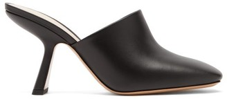 Nicholas Kirkwood Alba Square-toe Leather Mules - Black