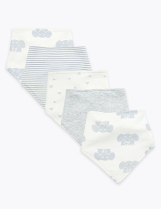 Marks and Spencer 5 Pack Organic Cotton Dribble Bibs