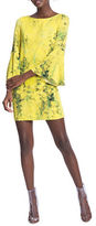 Tracy Reese Floral Flounce-Sleeved Dress