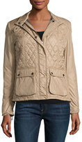 Belstaff Aynsley Two-Pocket Quilted Jacket, Taupe