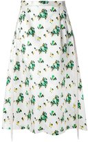 Toga flower print A-line skirt - women - Polyester/Acetate - 36