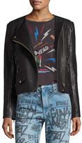 Etoile Isabel Marant Kankara Textured Leather Jacket, Black