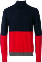Wood Wood contrast colour roll-neck sweater