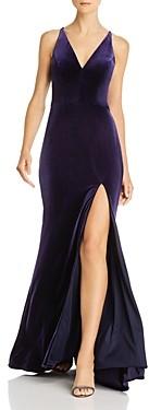 Aqua Velvet Sleeveless Gown - 100% Exclusive