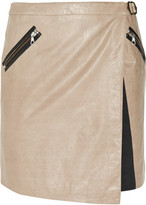Rag & bone Brixton asymmetric leather wrap mini skirt