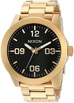 Nixon Women's 'Corporal' Quartz Stainless Steel Automatic Watch, Color:Gold-Toned (Model: A346-510-00)