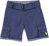 U.S. Polo Assn. Pigment Blue Twill Belted Cargo Shorts - Toddler & Boys