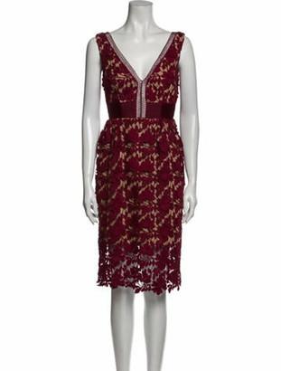 Self-Portrait Lace Pattern Knee-Length Dress