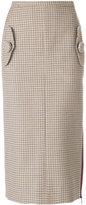 No.21 houndstooth pencil skirt - women - Virgin Wool - 44