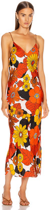 Dodo Bar Or Corinna Dress in Orange & Brown Floral | FWRD
