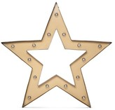 Threshold Metal Marquee Large - Framed Star - Brass