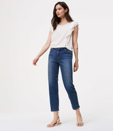 LOFT Straight Crop Jeans in Vintage Blue Wash