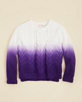 Design History Girls' Dip Dye Cable Knit Sweater - Sizes S-XL