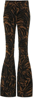 Thierry Mugler Jacquard high-rise flared pants