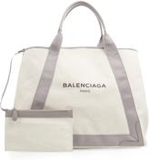 Balenciaga Navy Cabas M cotton-canvas shopper