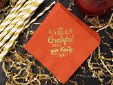 Etsy Thanksgiving Napkins, Thanksgiving Dinner, Grateful Napkins, Table Decor, Autumn Holiday Paper Napki