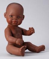 Mini Land Dark-Haired Newborn Girl Doll